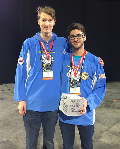 CA Students Part of World Champion Team at the FIRST Tech Challenge 2