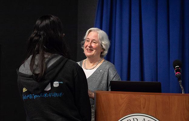 2018–19 Davidson Lecturer Patsy Aldana '64 Speaks about Migrant Children at Risk 3