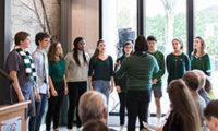 CA Singers Herald History at the Opening of the Concord Museum's Rasmussen Education Center 1