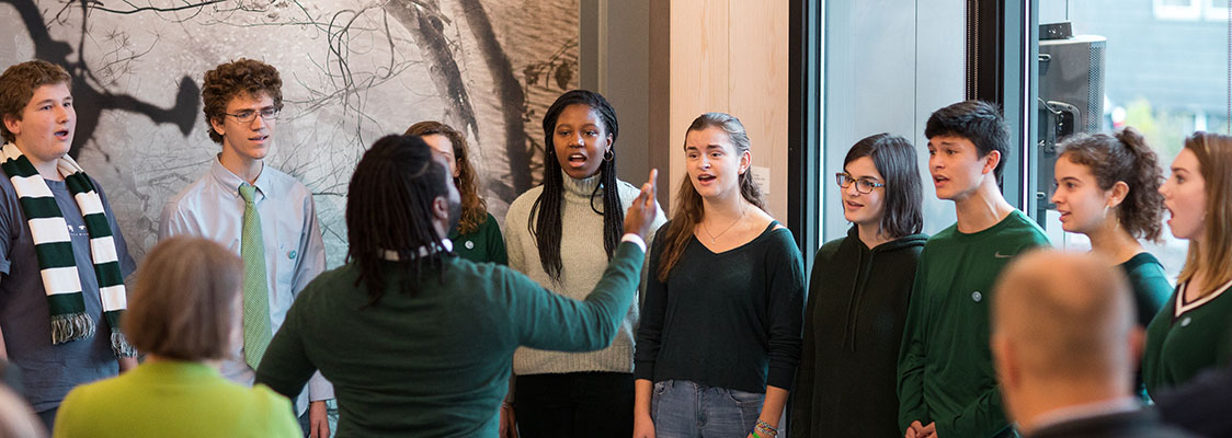 CA Singers Herald History at the Opening of the Concord Museum's Rasmussen Education Center 2
