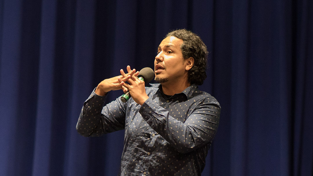 "For a Community and Equity Assembly on the 2019–20 Theme ""Journeys to the Self,"" Gyasi Ross Speaks at CA about Identity and Collective Responsibility"